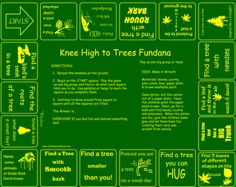 TREES! Backyard or woods scavenger hunt game about trees for kids 3-6. Fun game for young kids at home to learn about trees!