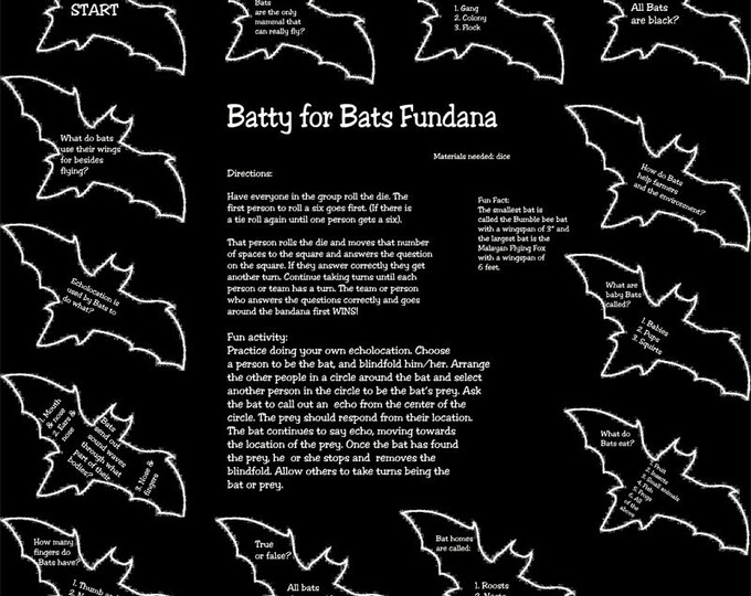 BATS!! Learn all about Bats in a fun way with our Batty for Bats Fundana. Included is an activity about echolocation! Great for homeschool!