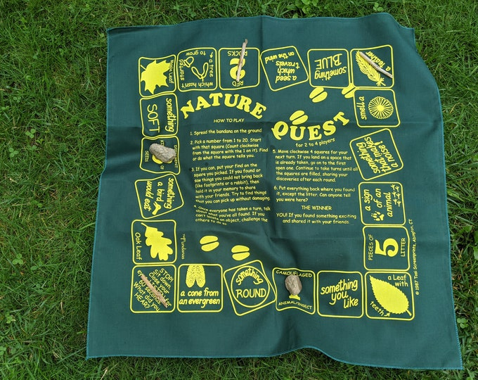 Backyard, woods Nature scavenger hunt game! Fun way to learn about nature! Great for kids at home, scouts, families, camps! Make discoveries