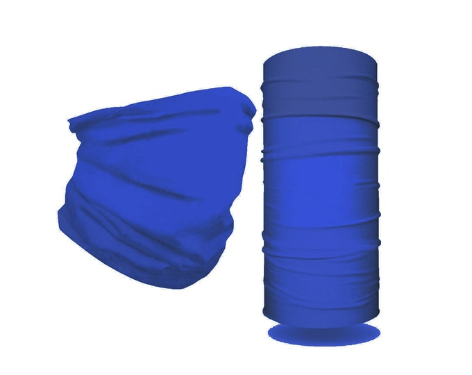 New! Double layer, Soft, Safe, Reusable, Washable, Solid Color Neck Gaiter, Made in USA! Great Colors! Easy on, easy off!