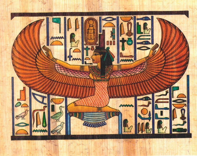 New! Egyptian Papyrus Prints! Imported from Egypt our papyrus sheets can be framed, make collages, cards and more! Colorful, unique designs!