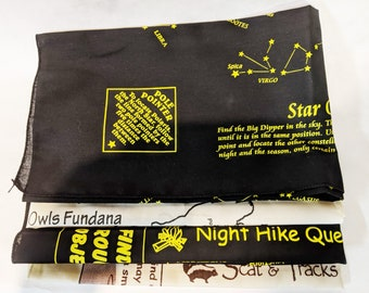 New! Four Pack Variety Fundanas! Night Hike, Scat & Track, Awesome Owls, Star Quest! Great for night owl badges, hybrid learning and more!