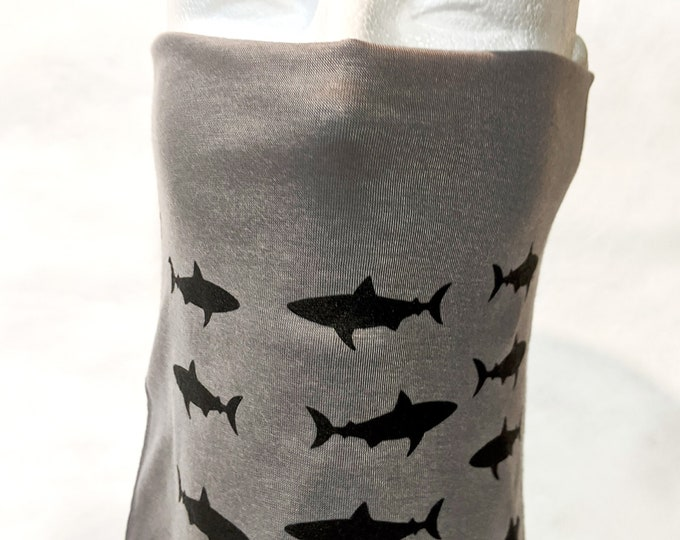 New! Double Layer SHARKS Gaiters! Wear JAWS! Soft, comfortable, easy to wear, washable, breathable! Great for men and women! Made in USA.