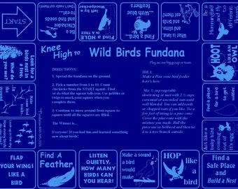 Birds! Backyard Scavenger hunt game about birds for kids ages 3-6. Fun way to discover new things about birds. Keeps kids busy and learning!