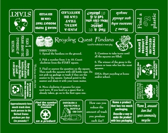 Reduce, Reuse, Recycle with our Recycling Quest Fundana! Learn about Recycling in a fun, different way! Great for Schools, Earth Day!