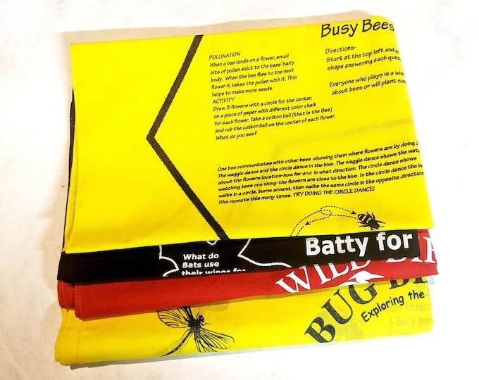 Pollinator Pack Variety Fundanas! Busy Bees, Batty for Bats, Wild Bird Bingo, Bug Bingo! Teach kids about pollinators! 10 percent off!