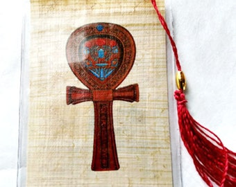 Symbol of Life-The Anhk Egyptian Papyrus Bookmark! Beautiful, useful and unique. A thoughtful, practical gift!