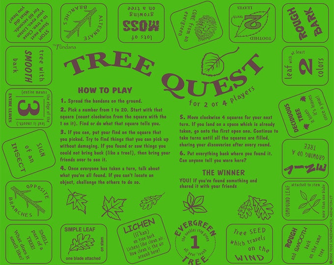 Trees! A fun, scavenger hunt game for kids, parents, camps, scouts to learn about the wonderful, important world of trees!