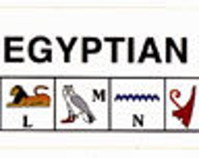 NEW PRICE-.40 each Sold in dozens! Hieroglyphic alphabet and number stickers! Great for homeschoolers, teachers, learning about Egypt!