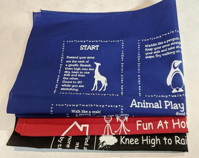 New! Rainy Day or Indoors Value Variety Packs 3 Fundanas! Animal Play, Fun At Home, Knee High Rainy Days! Fun play, learning activities!!