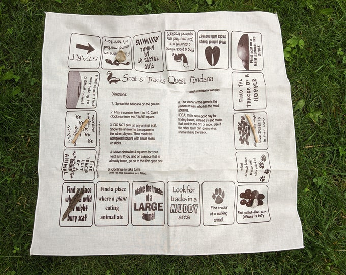 Discover Wildlife!Fun scavenger hunt about animal tracks, poop, behaviors! Great for kids at home, scouts, camp!