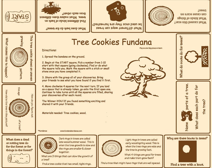 Tree Cookie Game! Fun at home enrichment activity for kids! Discover and learn about trees and tree cookies. Great for kids at home!