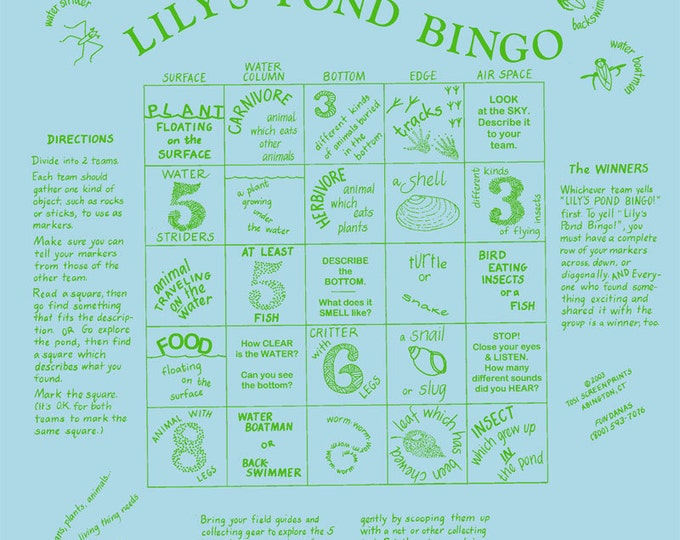 Ponds! Learn about pond life! Have fun with your kids, scouts this spring when you investigate and play this bingo game about ponds
