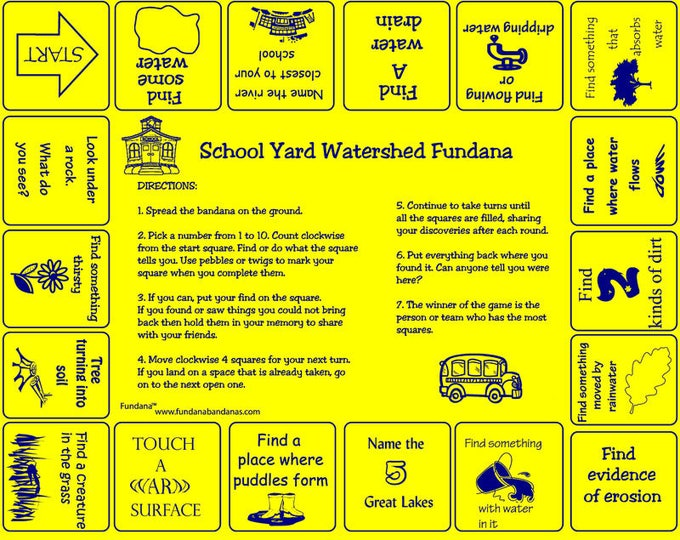 School Yard Watershed Fundana. A Fun way to learn about water, watersheds! Great for Project Wet Workshops, Schools, Camps, Homeschoolers!