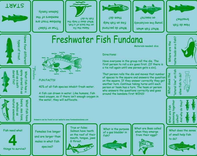 FISH! Indoors or in your backyard, play our Freshwater Fish game! Learn all sorts of FUN things about fish Great activity for kids, families