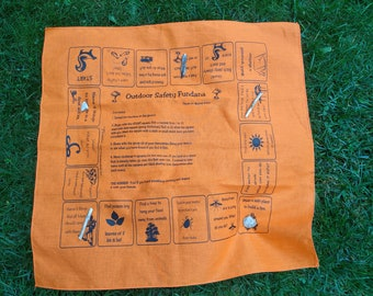Outdoor Safety scavenger hunt game! Learn ways to survive in the outdoors.  Fun learning activity for kids, scouts, families.