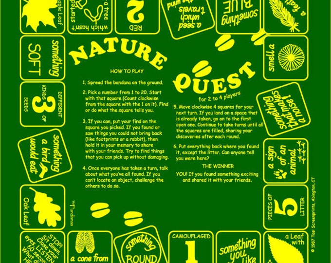 Nature Quest Game.  Fun way to  turn any nature hike into a great adventure. Nature Quest for kids, scouts, camps, schools and more!