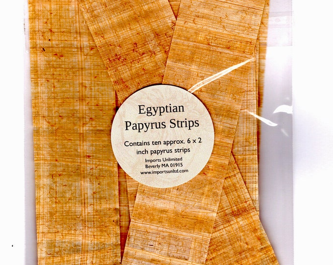 New! Genuine Egyptian Papyrus Strips! Package of 10-6x2 inch papyrus strips. Make your own bookmark, great for school project, homeschool!