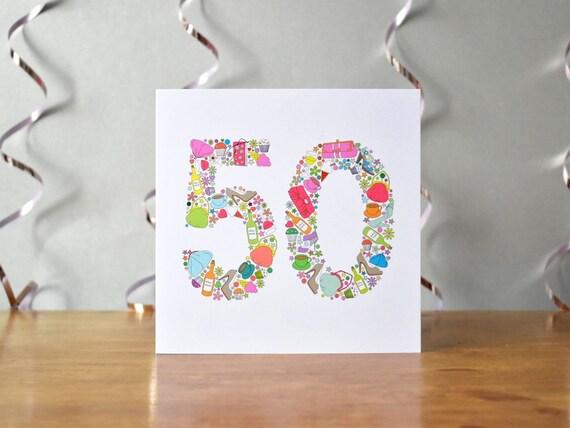 Facevamo Cose 50 Compleanno Carta Cinquantesimo Compleanno Etsy