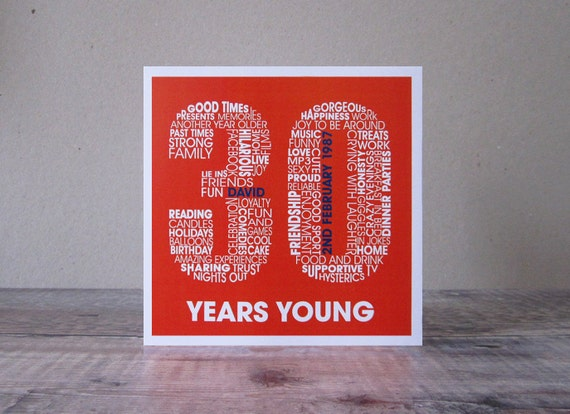 30th Birthday Card Personalized