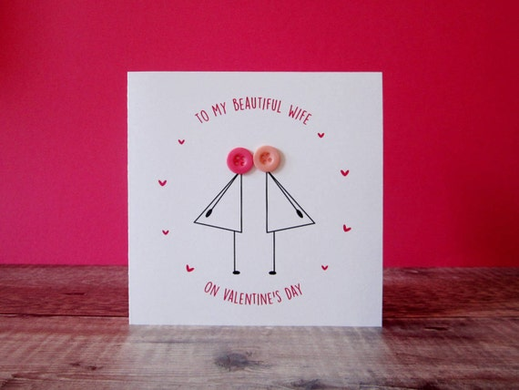 To my wife on valentines day card lesbian wife etsy image 0 m4hsunfo