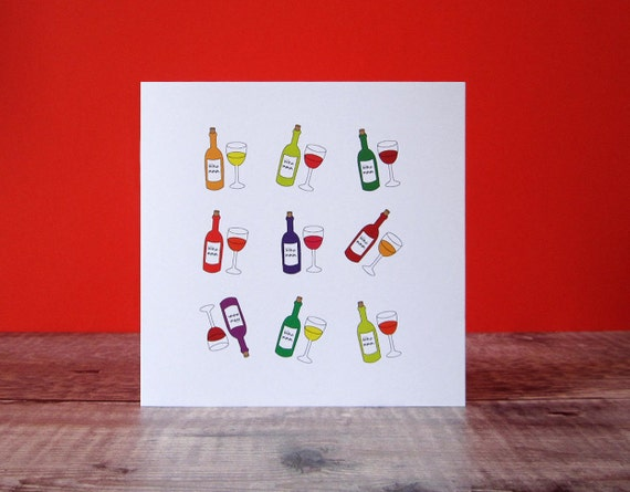 Lots Of Wine Birthday Card For Her