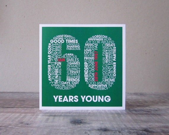 60th Birthday Personalised Card Personalized