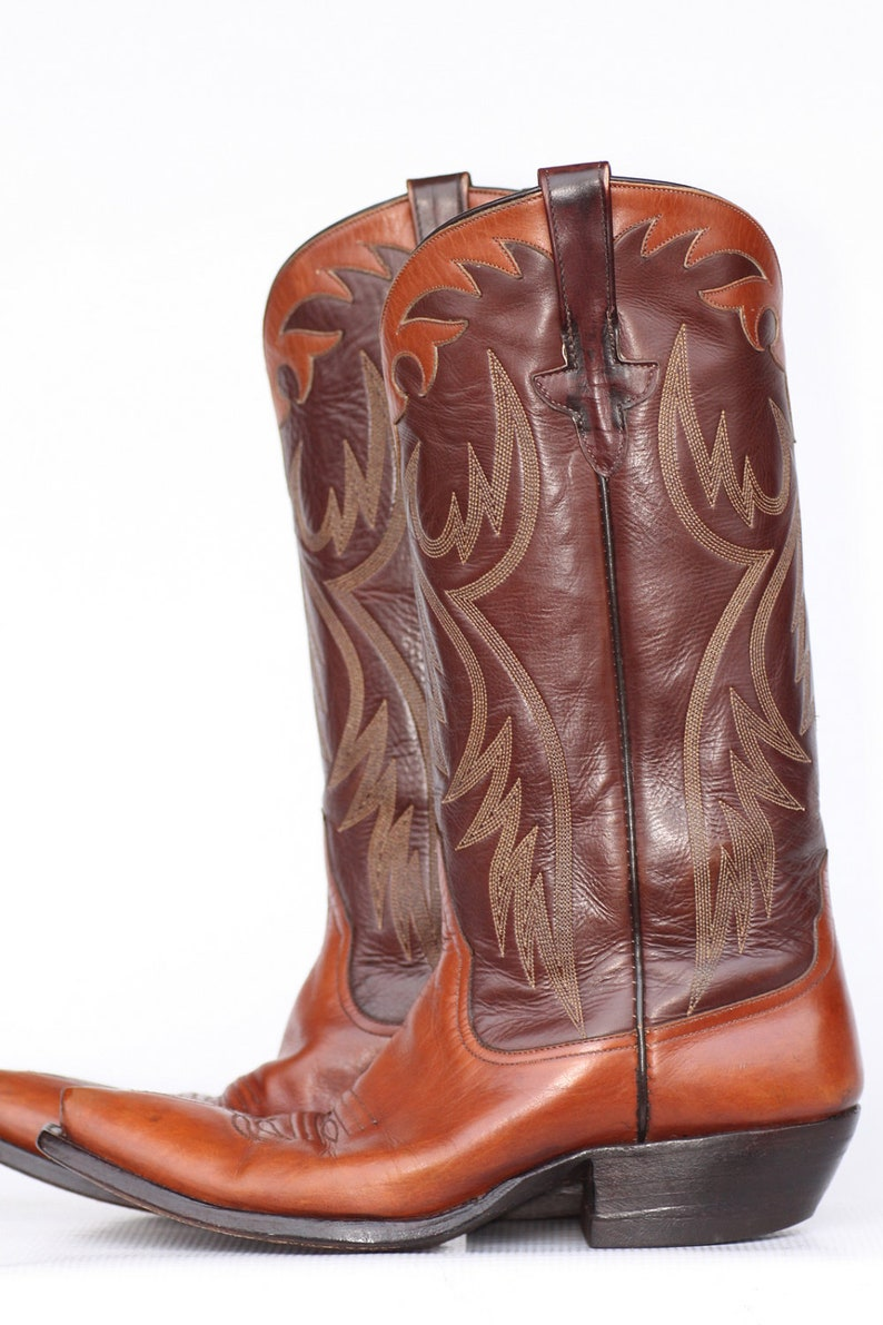 a9b56772fea Beautiful, vintage, Rios of Mercedes leather ladies cowboy boots with  appliques 6 B Minty