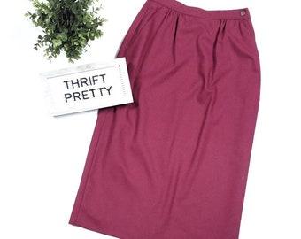 74f374b5ee Vintage 1980's Country Suburbans Long Pencil Skirt Size 6 Burgundy Wine  ILGWU