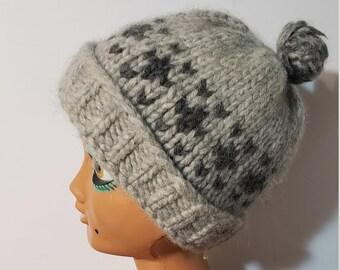 5cd8d88e794 Vintage Cowichan Sweater Hat Winter Hat