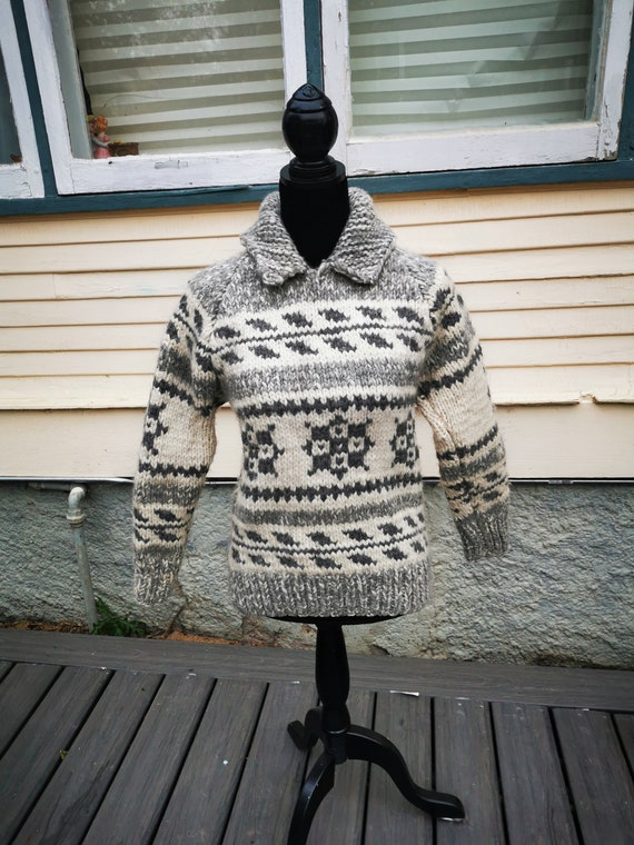 Cowichan Pullover Ladies Fitted Vintage Hippie Boh
