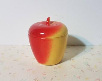 1930's Hazel Atlas Apple Milk Glass Jam Jar