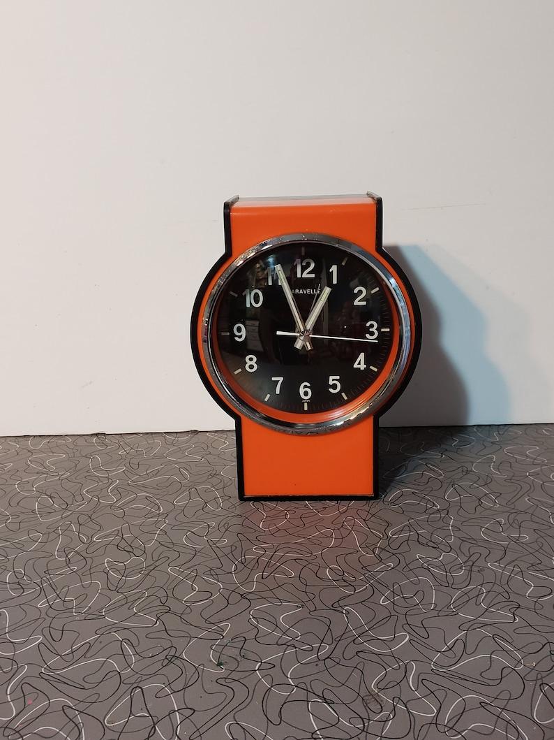 Modern Alarm Clock Caravelle Canada Plastic Glass 1960/'s Mid Century Modern