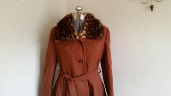 Vintage 1960's Wool And Fur Princess Coat