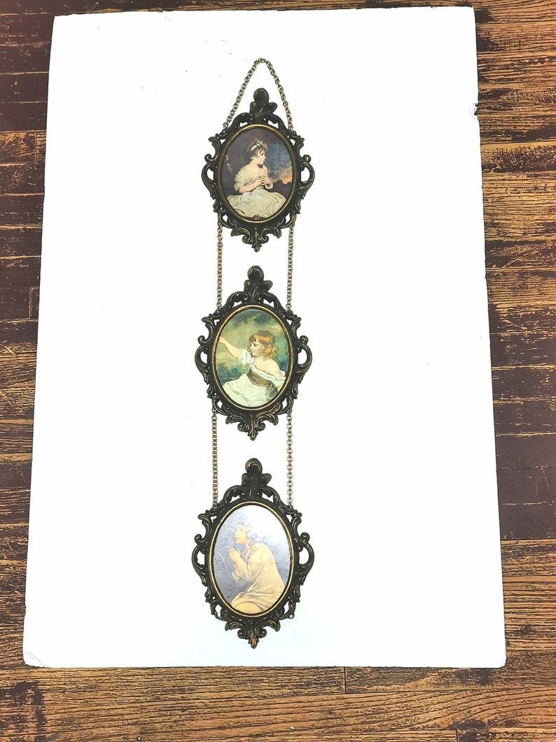Vintage Filigree Ornate Picture Frames Brass Italy