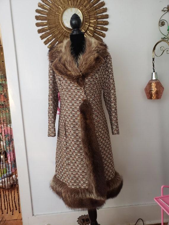 Mod  Wool Coat Vintage 1970s Mod Coat 1970s