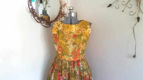 Vintage 1960's Floral Sundress