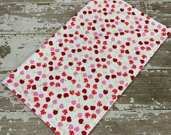 Minky Baby Blanket in Merry Cherry with Red Backing