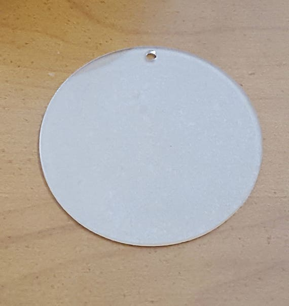 Acrylic Circle Disc Ornament Blanks with Hole for Vinyl Cludoo 30pcs 3 Inch Clear Round Acrylic Ornament Blanks Engraving DIY Keychain and Crafting Acrylic Keychain Blanks Bulk Painting