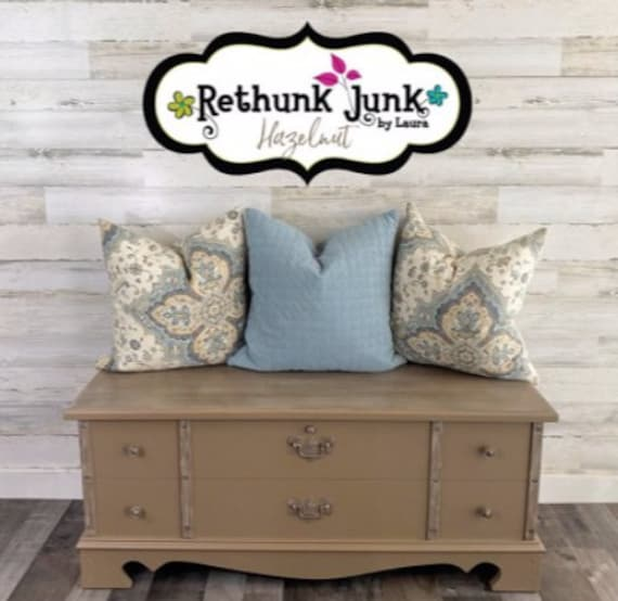 Hazelnut Paint Rethunk Junk by Laura - Neutral new paint color warm brown