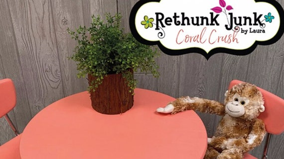 Coral Crush Paint by Rethunk Junk by Laura - New Paint Color for 2021!