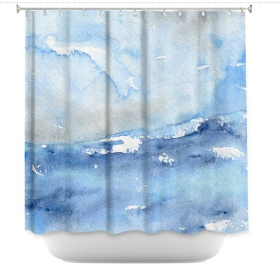 Ocean Wave Shower Curtain Seascape Painting Artistic