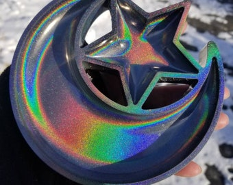 Star and Moon Dish Icy Opal