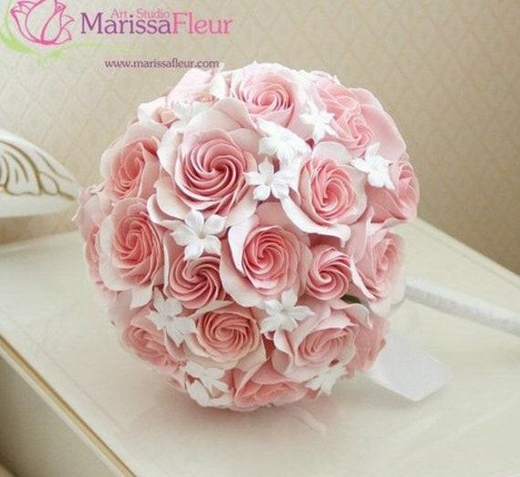 Brautstrauss Hochzeit Bouquet Mit Korallen Rosen Und Etsy