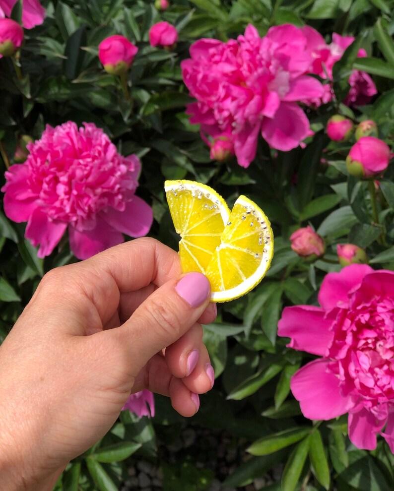 Pins Cute Sweet Lemon Slice Pin Fashion Pin Citrus Pin Summer Brooch Cute Pin Fruit Pin Realistic Lemon Brooch Pin Lemon Pin