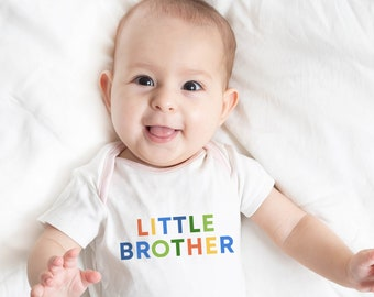 Little Brother Big Brother Shirts Set, Little Brother Big Brother Matching Outfits, Pregnancy announcement, Sibling Matching Outfits