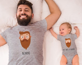 692229b7 Beardo Matching Tees, Father and Son Matching T-shirts, Dad and Daughter  Shirts, Dad and Baby Matching Tshirts, New Dad Gift, Father Son Tee