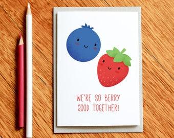Funny Valentine's Day Card, Valentines Card, Funny Valentine, Anniversary Card, Girlfriend Card, Boyfriend Card, Love Card, Food Pun Card