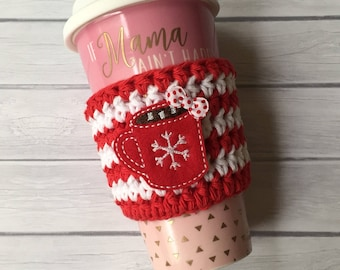 Coffee cozy, hot chocolate, cup cozy, hot chocolate cozy, coffee cup cozy, cozy, coffee cup, mug cozy, crochet coffee cozy, coffee gift