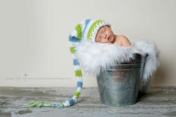 Lange Schwanz Hut Elf Mütze Baby Mütze Baby Zipfelmütze Etsy